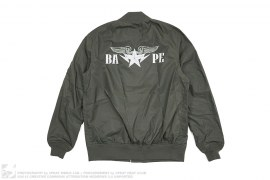 Twinsta Lightweight Windbreaker MA1 Bomber Jacket by A Bathing Ape