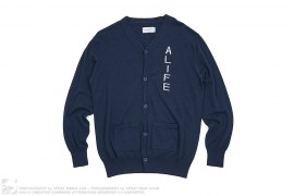 Cotton/Cashmere Blend Knit Cardigan by Alife