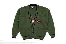 Patch Cardigan by Bugle Boy