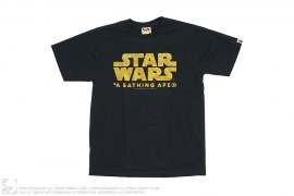 Gold Camo Logo Tee by A Bathing Ape x Star Wars