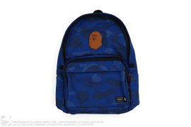 Color Camo Leather Apehead Backpack by A Bathing Ape x Porter