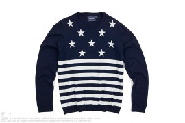 Stars N Stripes Knit Sweater by Topman