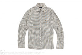 Cotton Wool Long Sleeve Button-Up by Burberry