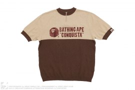 Two Tone Short Sleeve Cycles Sweater by A Bathing Ape