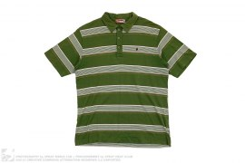 Striped Border Polo Shirt by A Bathing Ape