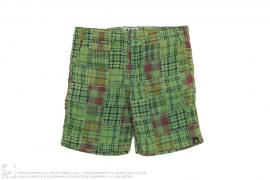 Check Patchwork Shorts by A Bathing Ape