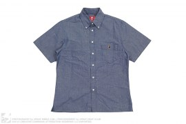 Indigo Short Sleeve Button Up by A Bathing Ape