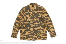 1st Camo Stone Wash Military Button-Up by A Bathing Ape