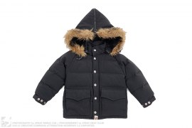 Convertible Fur Hood Classic Down Jacket by A Bathing Ape