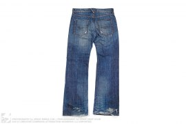 Distressed Wide Leg Denim by Energie