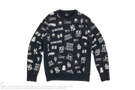 All Of Over Print Crewneck by SSUR x Been Trill