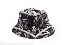 Black Camo Bape Bucket Hat by A Bathing Ape