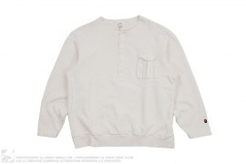 French Terry Henley Sweatshirt by A Bathing Ape