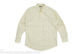 Plaid Button-Up Long Sleeve by Burberry