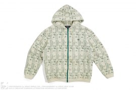 Skull Money Zip-Up Hoodie by Official Recon