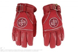 mens gloves Leather Ski Gloves by Gucci