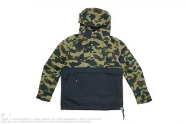 1st Camo Two Tone Windbreaker Pullover Anorak Jacket by A Bathing Ape