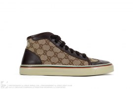 mens shoes GG Canvas Wingtip by Gucci