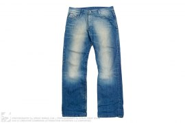 Lightwashed Wide Leg Denim by Diesel