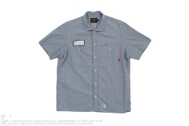 Short Sleeve Selvedge Chambray Button-Up Work Shirt by Wtaps