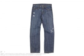 Garden Of Eathly Delights Denim Jeans by Monarchy