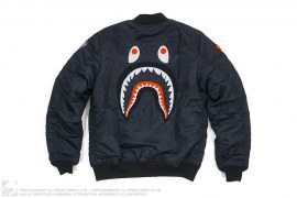 Back Shark MA1 Bomber Jacket by A Bathing Ape