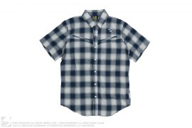 Ice Cream Slanted Pocket Short Sleeve Harringbone Button-Up Shirt by BBC/Ice Cream