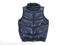 Shiny Stand Collar Down Vest by A Bathing Ape