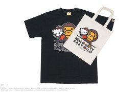 Milo Kitty Puppet Tee With Tote by A Bathing Ape x Sanrio