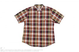 Short Sleeve PLaid Button-Up by A Bathing Ape