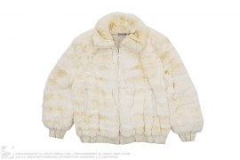 Golden Chinchilla Fur Stand Collar Jacket by Nija Furs