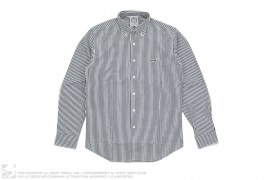 Jetsetter Regular Stripe Button-Up Shirt by BBC/Ice Cream