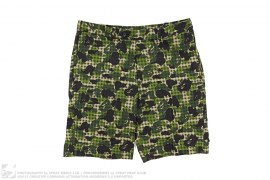 Mr. Bathing Ape Gingham ABC Camo Shorts by A Bathing Ape