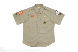 Boy Scout Applique Short Sleeve Button-Up Shirt by A Bathing Ape