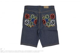 Wide Fit Denim Shorts by Gino Green Global
