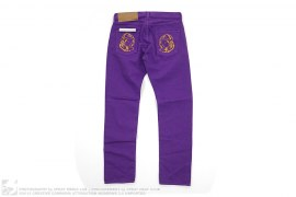 Gold Moonman Embroidered Solid Denim by BBC/Ice Cream