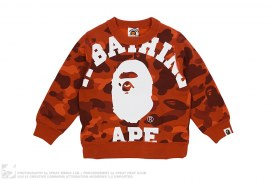 Color Camo Giant College Logo Crewneck Sweatshirt by A Bathing Ape
