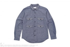 Wind Cruiser 4 Pocket Selvedge Chambray Button Up Shirt by Nanamica
