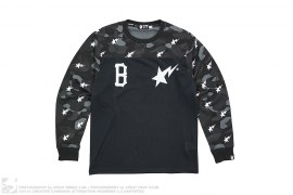 Blvck Color Camo Long Sleeve Tee by A Bathing Ape x Black Scale