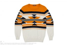 Check Pattern Knit Sweater by KIKC