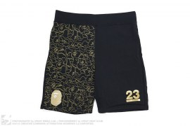 NW23 Gold Camo Sweatshorts by A Bathing Ape