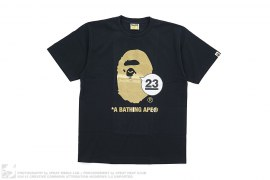 NW23 Gold Foild Apehead Tee by A Bathing Ape