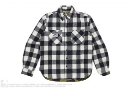 1st Camo Quilted Lining Mountain Flannel Shirt Jacket by A Bathing Ape