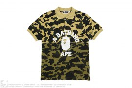 Two Tone 1st Camo College Logo Polo Shirt by A Bathing Ape