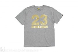NW23 Gold Foil Logo Tee by A Bathing Ape