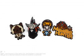 4 Pin Set by A Bathing Ape x Monster Hunter