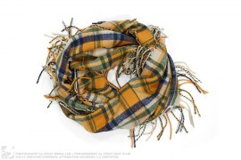 Bape Check Kids Ring Scarf by A Bathing Ape