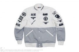 Logo Collage Race Jacket by A Bathing Ape