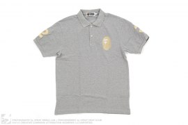 NW23 Gold Apead Polo Shirt by A Bathing Ape