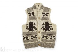Virgin Wool Sweater Vest by Polar Bear